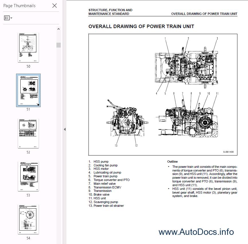 Komatsu Bulldozers D65EX-15,D65PX-15,D65WX-15 PDF repair