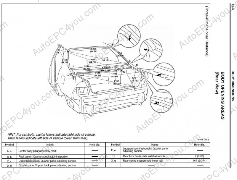 Lexus Body Dimensions repair manual Order & Download