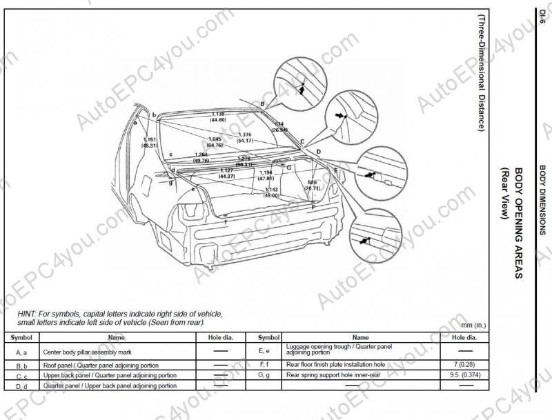 Lexus Body Dimensions repair manual Order & Download