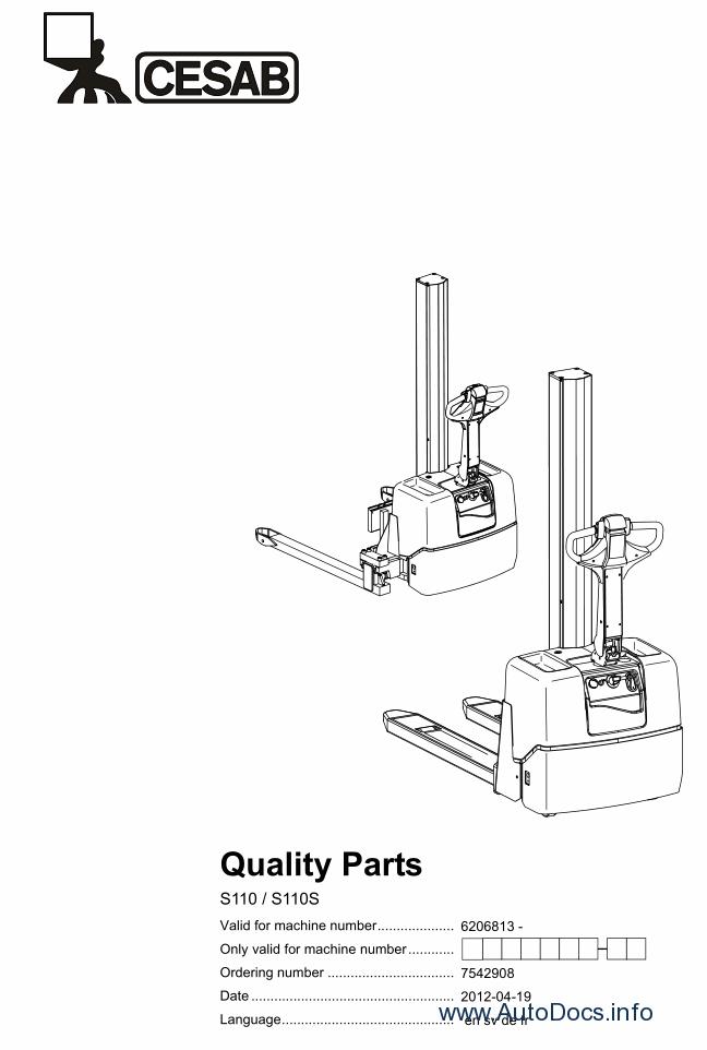 Cesab 2012 Parts Catalog