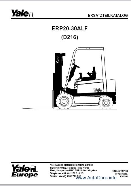 Yale 2014 PDF Parts Manual