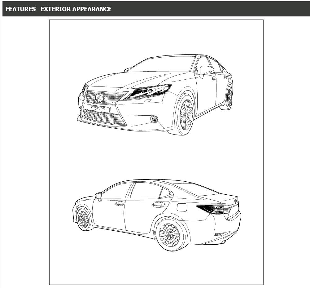 Lexus ES250, ES350 Repair Manual 06.2012-06.2015