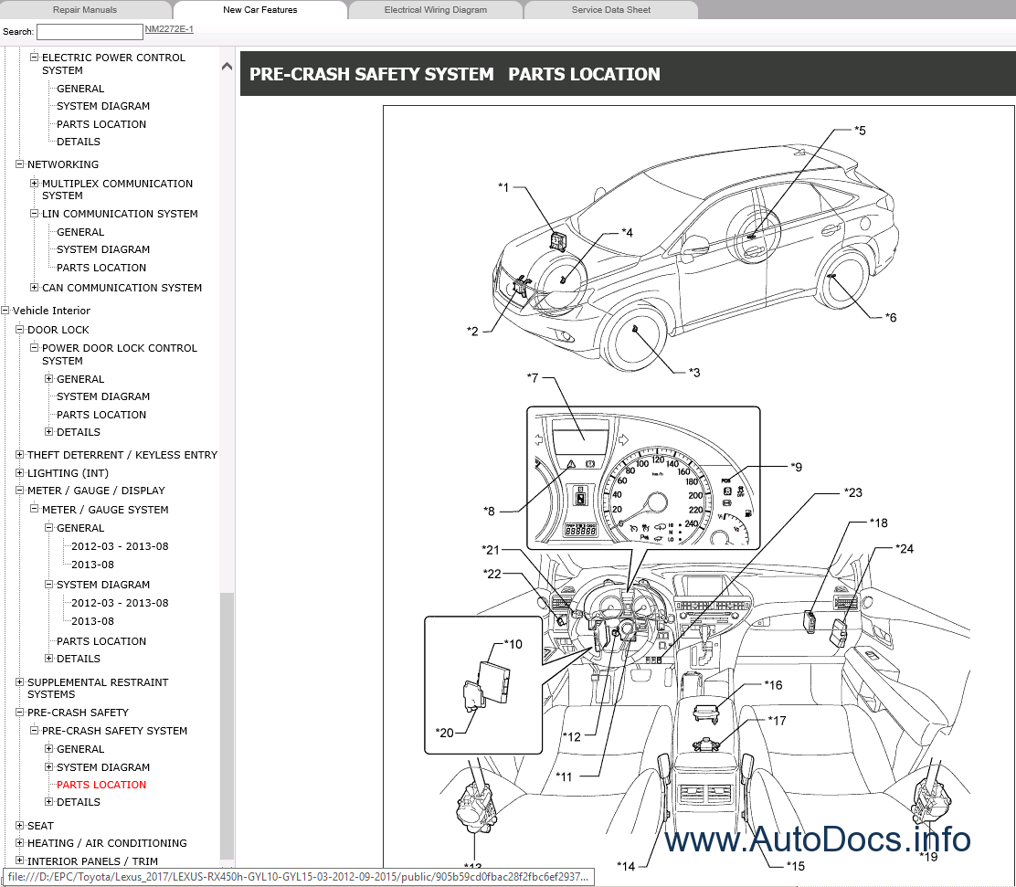 Lexus RX450h GYL10/GYL15 Repair Manual 2012-2015