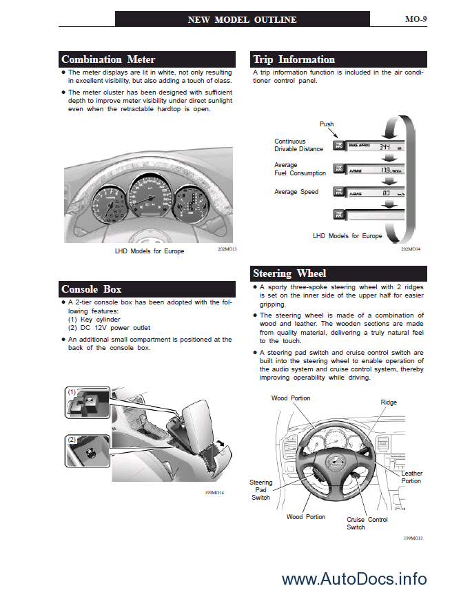 Lexus SC430 (UZZ40) PDF Manual