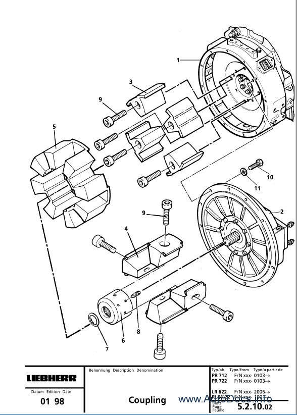 Liebherr LR 622 632 622B 632B CRAWLER DOZER Repair Manual