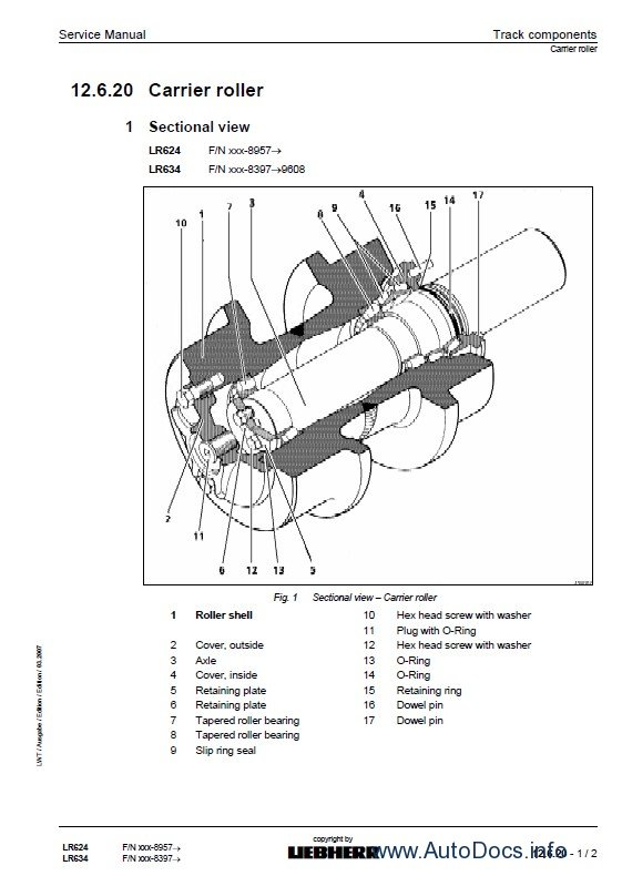 Liebherr LR624-634 crawler loaders workshop service manual