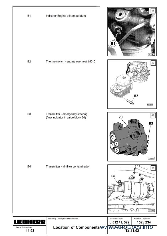 Download Liebherr L504-L522 Wheel Loader Service Manual