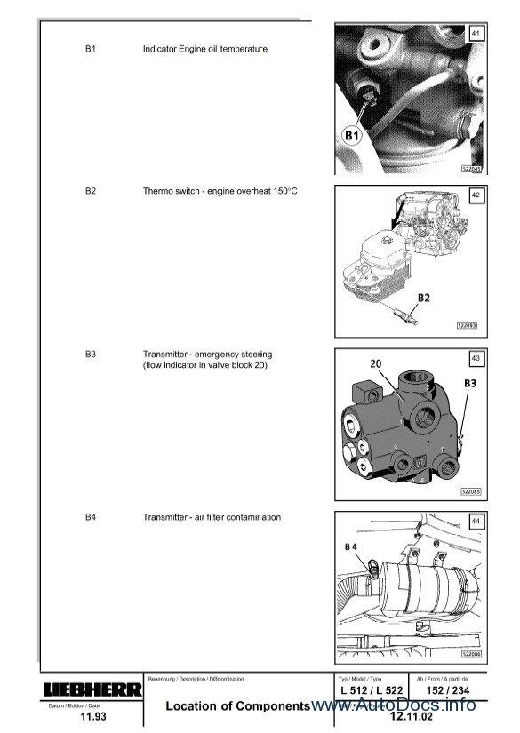 Download Liebherr L504-L522 Wheel Loader Service Manual