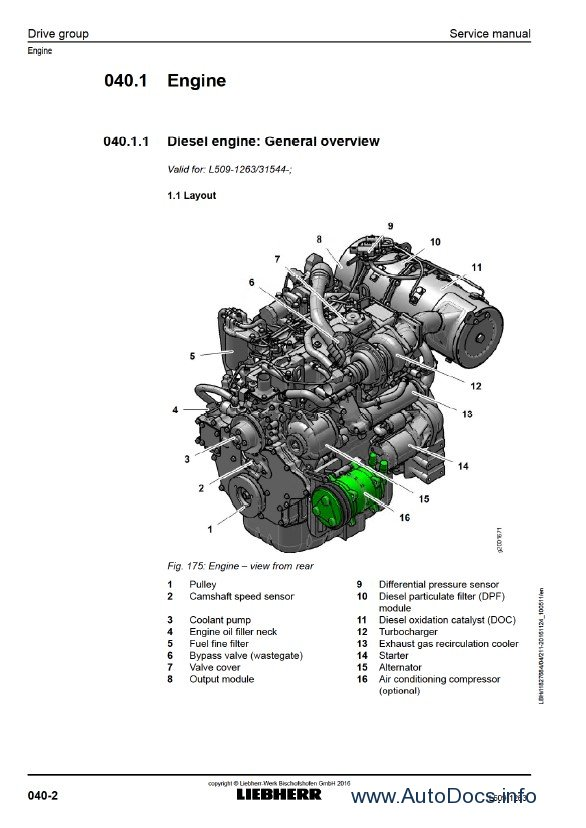 Download Liebherr L509 1263 Wheel Loader Service Manual