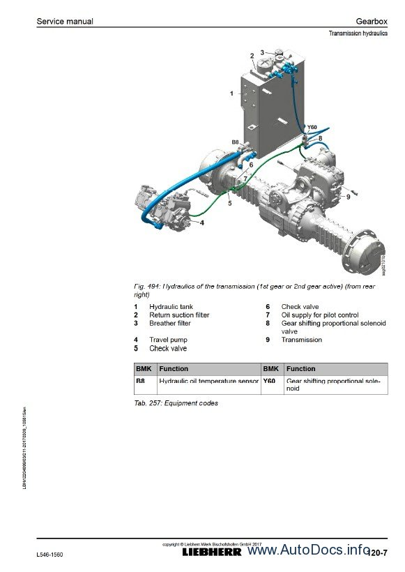Download Liebherr L546 1560 Wheel Loader Service PDF