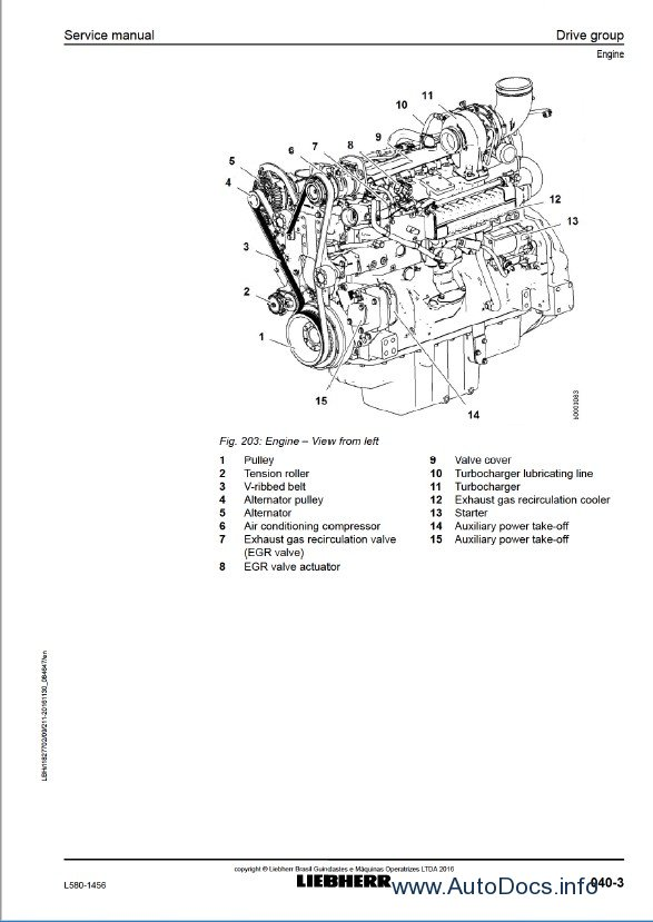 Download Liebherr L580 1456 Wheel Loader Service PDF