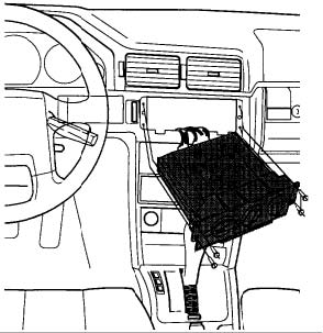 1991-1995 Volvo 940 Climate Controller Removal Instructions