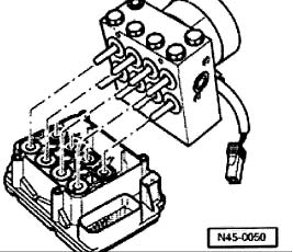 1999-2001 Golf, Beetle, & Jetta ABS Module Removal