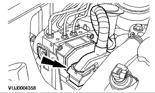 2002-2003 Jaguar X-type ABS Removal Instructions