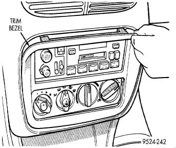 1995-2000 Cirrus Climate Controller Removal Instructions