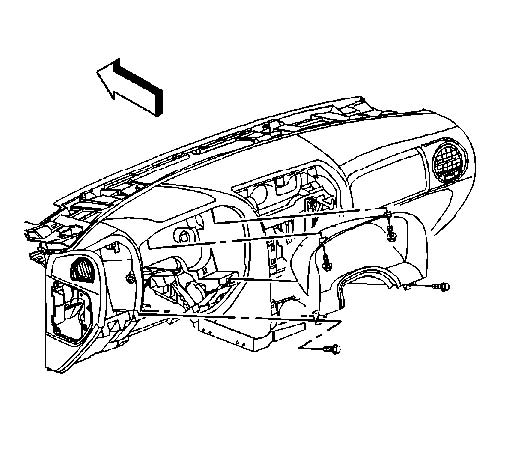 GMC Envoy Bezel Removal Instructions