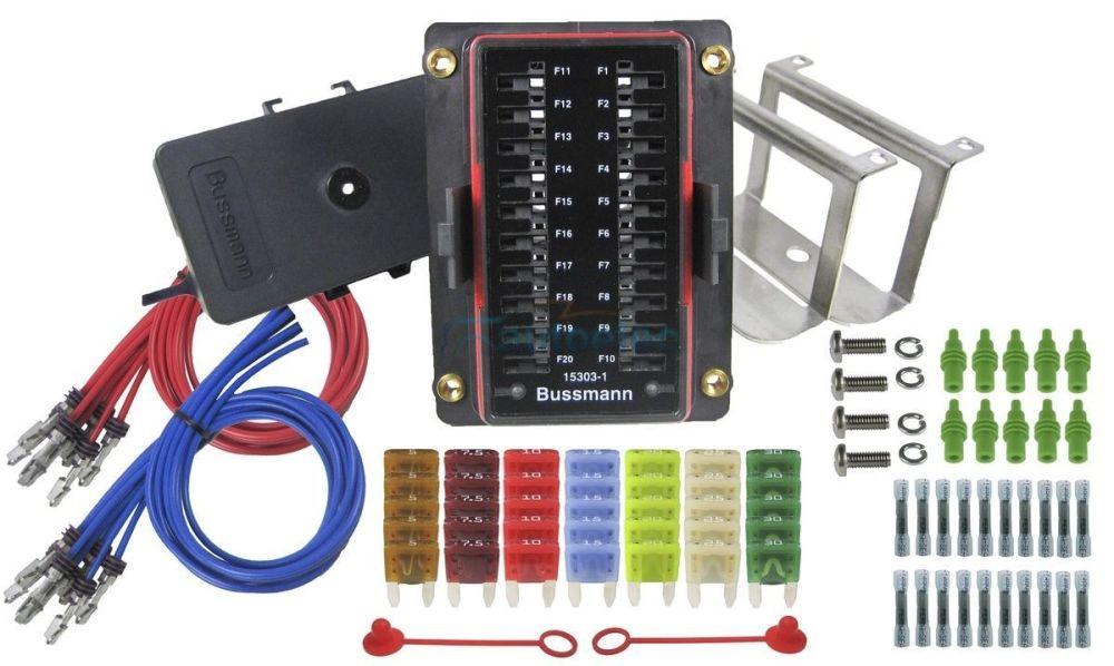 medium resolution of prolec 20 way fuse block box holder kit mini blade caravan dual fuse box car fuse box kit
