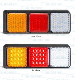 new led combination rear tail stop indicator reverse light lamp ute tray trailer view  [ 1500 x 1406 Pixel ]