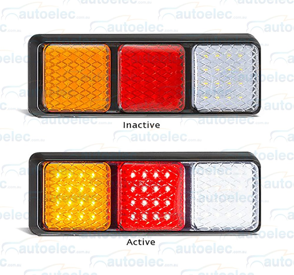 medium resolution of new led combination rear tail stop indicator reverse light lamp ute tray trailer view