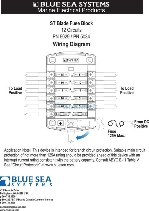 small resolution of blue sea 5029 a fuse block