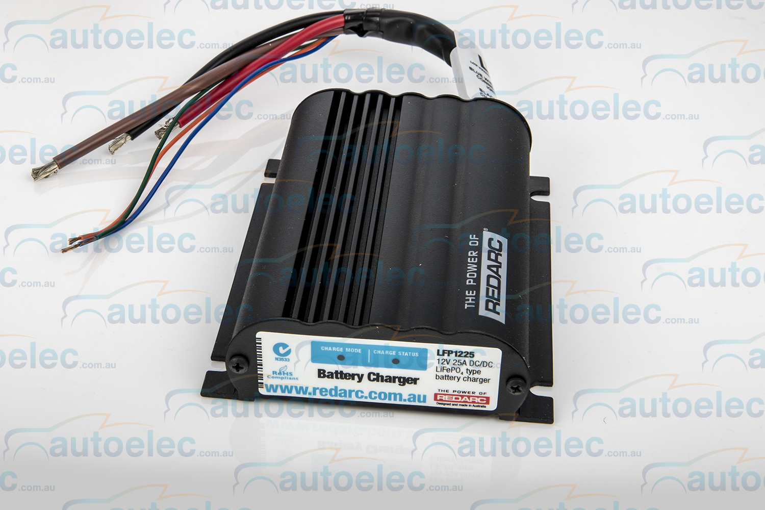 redarc bcdc wiring diagram bmw e61 towbar lfp1225 lv dual lithium battery isolator system dc