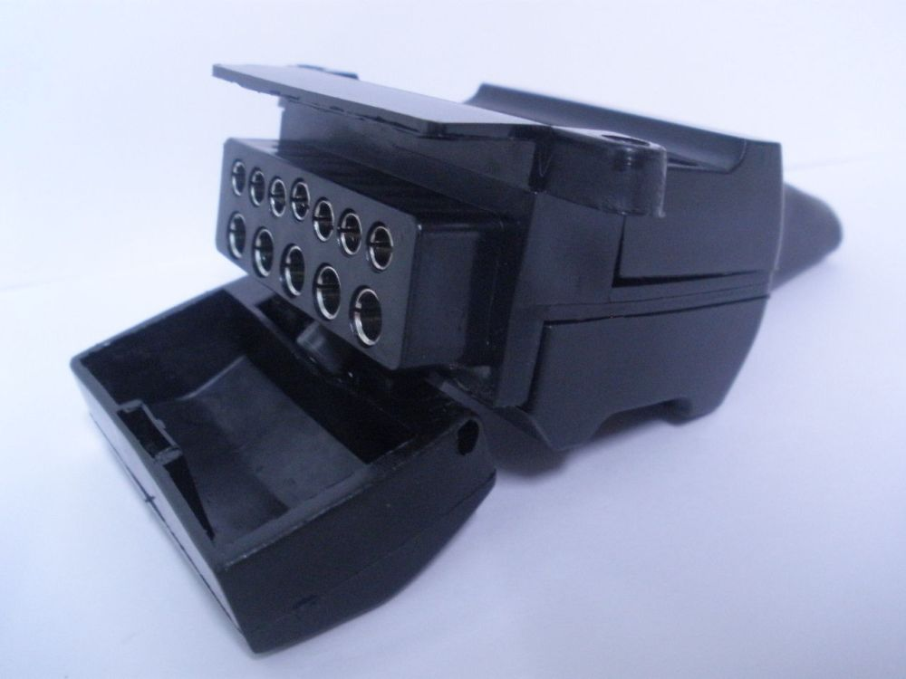 medium resolution of 12 pin flat trailer socket connector car female caravan