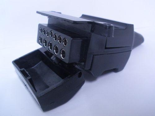 small resolution of 12 pin flat trailer socket connector car female caravan