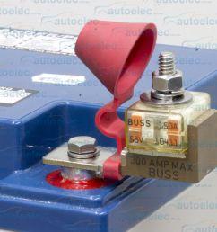 battery 150a 150 amp fuse holder block kit 12 12v volt dual system box mrbf150 [ 1600 x 1344 Pixel ]