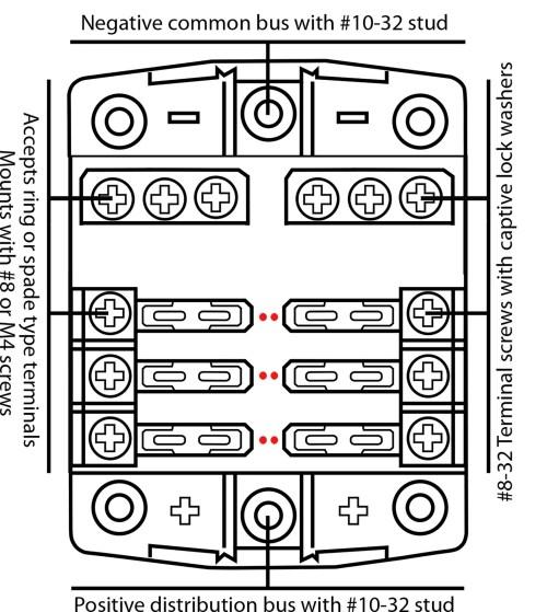 small resolution of baintech 6 way 30 amp blade fuse block