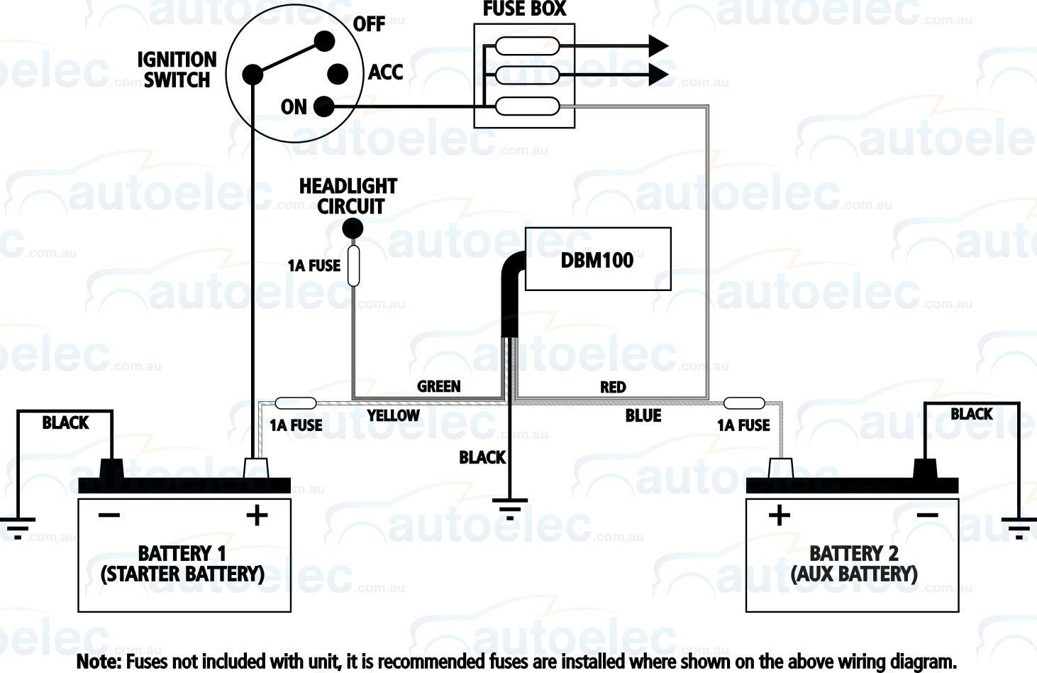 hight resolution of projecta dual battery system monitor volt meter dbm100 12v 24 volt wiring diagram dual battery hook up diagram cole hersee master