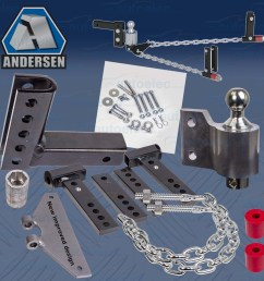 andersen no sway 4 drop weight distribution hitch caravan tow draw bar an3350au [ 1500 x 1500 Pixel ]