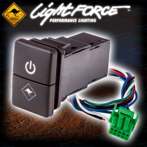 NEW LIGHTFORCE DUAL ON  OFF SWITCH SUIT TOYOTA HILUX MY15  2017 CBSWTY2D