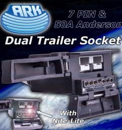 ark 7 pin trailer socket 50 amp anderson plug connection combination caravan [ 1500 x 1500 Pixel ]