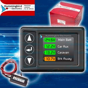 HUMMINGBIRD WIRELESS REMOTE VEHICLE MONITOR SYSTEM TRAILER