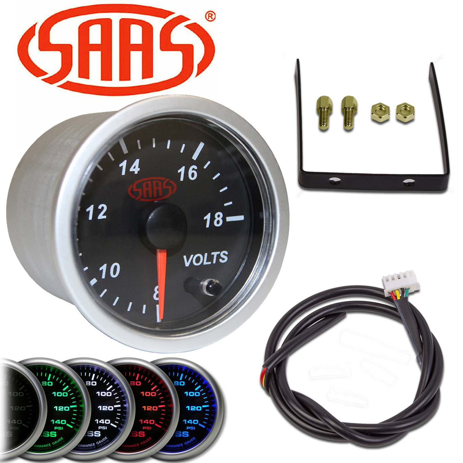 hight resolution of saas 52mm battery system voltmeter volt meter gauge heres the connection diagram for their 52mm gauges from the