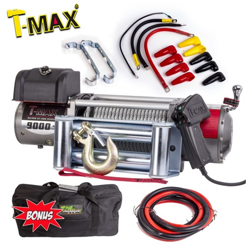 small resolution of tmax 9000lb 4082kg 12 volt winch recovery wire steel ew 9000 winch wiring