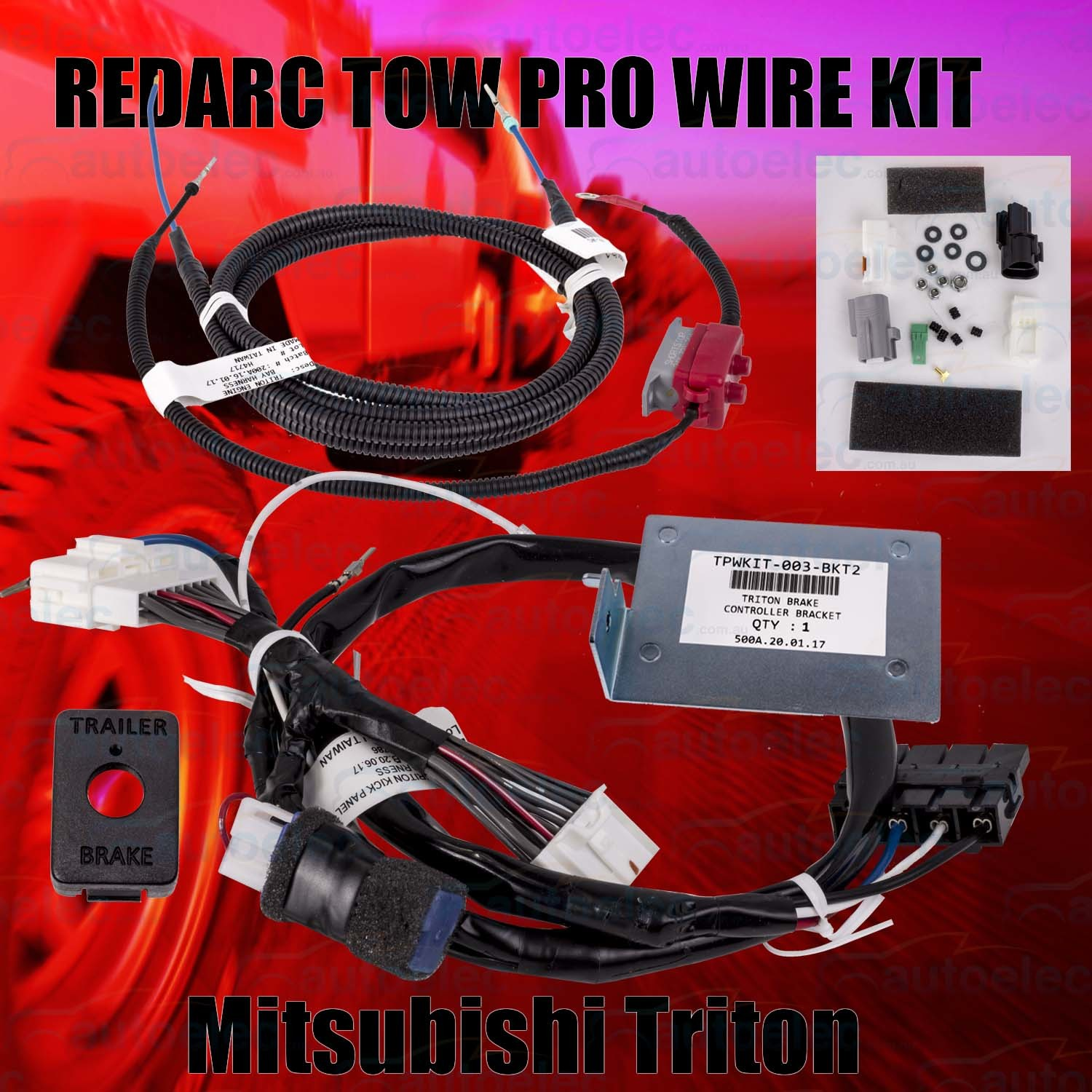 hight resolution of redarc towpro elite classic wiring harness loom kit mitsubishi triton 2017 on