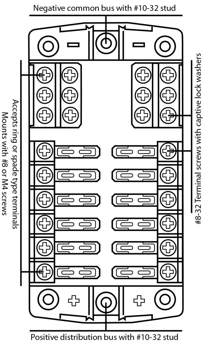 medium resolution of 12 fuse outlets 100 amps maximum per fuse block 30 amps maximum per individual fuse provision for holding 2 spare fuses