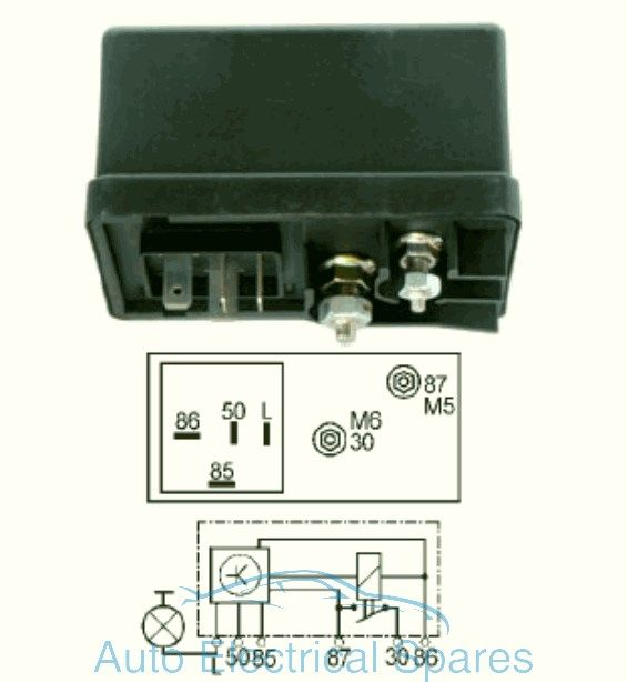 12v rocker switch with light wiring diagram volvo 850 system diagrams 160424 glow plug relay replaces lucas hdc102