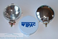 "WIPAC S6007 5 1/2"" CHROME Halogen Driving Spot Lamps 1 x PAIR"