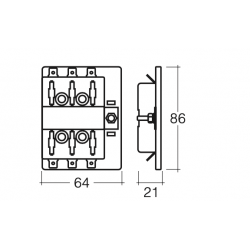ELECTRICAL NARVA 6 WAY STANDARD BLADE FUSE BOX 25 AMP