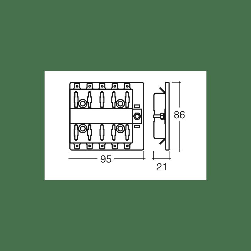ELECTRICAL NARVA 10 WAY STANDARD BLADE FUSE BOX 150 AMP