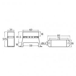 ELECTRICAL HELLA ELECTRICAL FUSE BOX 6-WAY BLADE FUSES