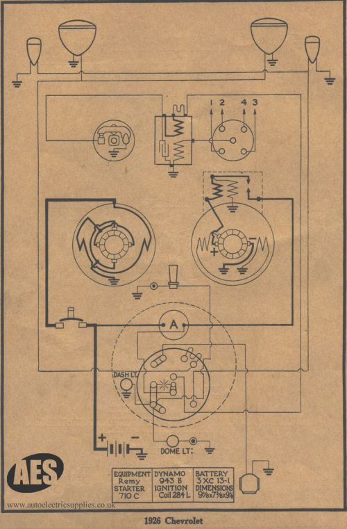 small resolution of 1926 chevrolet wiring diagram
