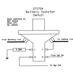 Battery Isolator Switch Wiring Diagram 2001 Club Car Removable Key Splash Proof