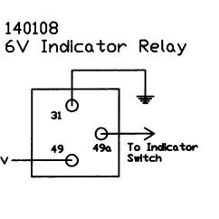 Electronic Flasher Wiring Diagram 150cc Gy6 6v Relay