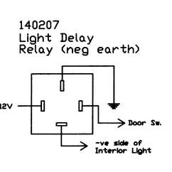 Wiring Diagrams For Relay Lighting 5 Pin Flat Trailer Diagram Interior Light Delay