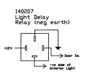 Interior light delay relay