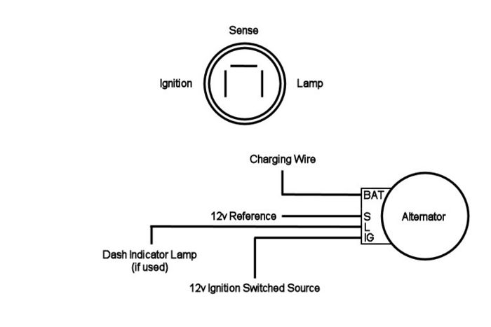 denso 2 wire alternator wiring diagram