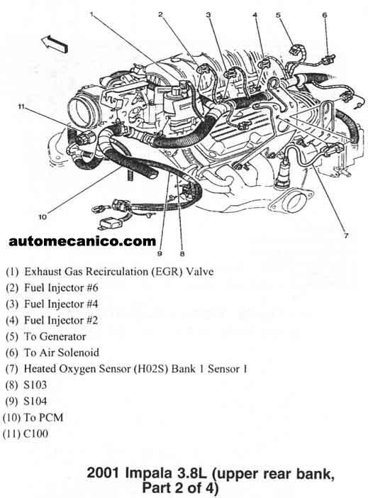 Engine Diagram For 2001 Chevy Impala 2001 Chrysler PT